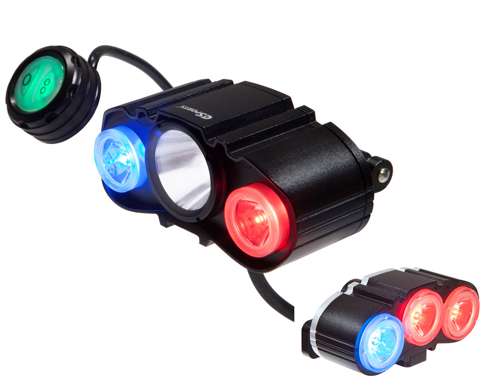 Maxpatrol 600 Dlx Police Bike Patrol Light By C3sports