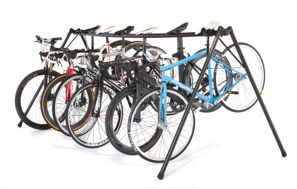 Portable Bicycle Event Stand Holds 8 Bikes Includes Tote