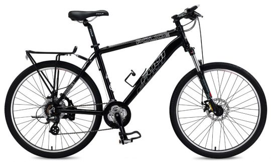 Fuji Code 1 Police Mountain Bike 27 Speed Shimano Components with Dual Disc  Brakes