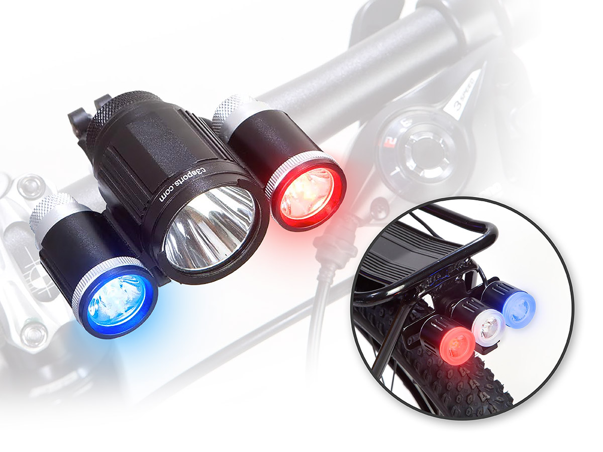 Maxpatrol 600 Police Bike Light By C3sports