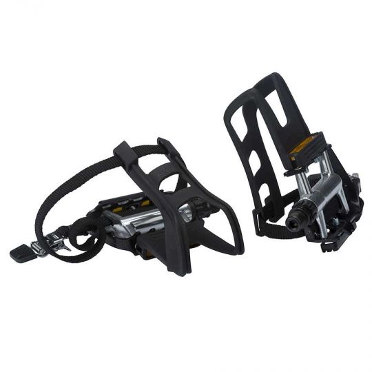 Bike Pedal Clips >> Xlc Ultralight Pedals With Toe Clips And Straps Police Bike Store