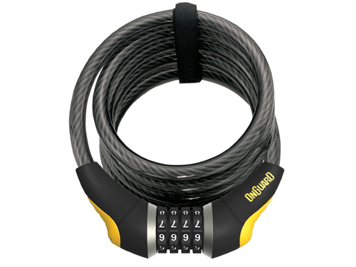 Onguard Doberman 185x15mm sécurité vélo lourd Duty 5 clés câble bobine verrou LK8027