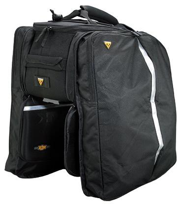 Topeak MTX EXP Bike Trunk Bag Black One Size Large Capacity W Shoulder Strap