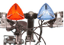 dual pro police bicycle strobing lights